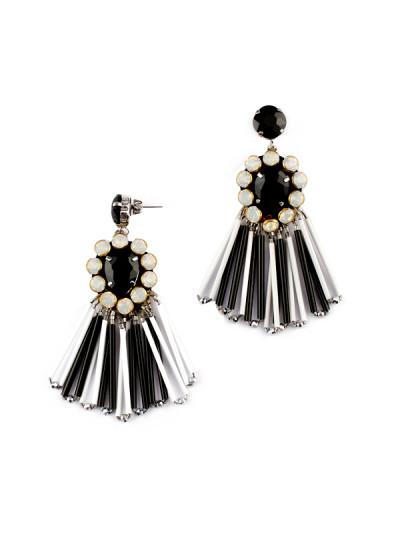 Indian Fashion Designers - Rhea - Contemporary Indian Designer - The Manhattan Tassel Earrings - RH-AW16-1030031