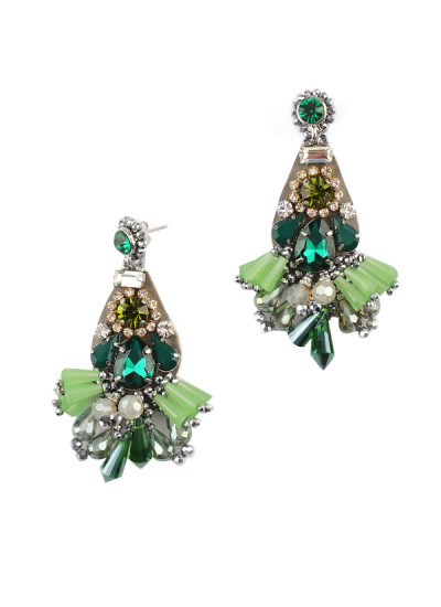 Indian Fashion Designers - Rhea - Contemporary Indian Designer - Wild Wild Tassel Earrings - RH-AW16-1030032