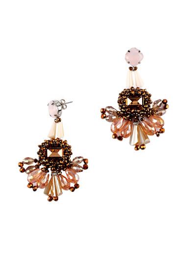 Indian Fashion Designers - Rhea - Contemporary Indian Designer - A Marrakech Market Tassel Earrings - RH-AW16-1030033