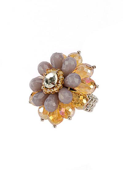 Indian Fashion Designers - Rhea - Contemporary Indian Designer - Grey Flower Power Ring - RH-AW16-1040004