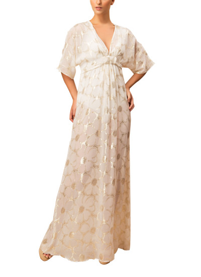 Indian Fashion Designers - Siddartha Tytler - Contemporary Indian Designer - Embroidred Kaftan Gown - ST-AW16-MS16-KFTN-002