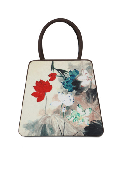 Indian Fashion Designers - Syuuta - Contemporary Indian Designer - Forest Printed Mama Mia Hangbag - SYK-AW16-SY018