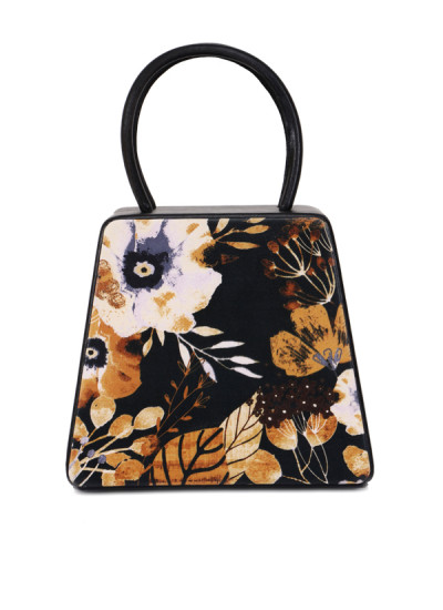 Indian Fashion Designers - Syuuta - Contemporary Indian Designer - Abstract Pritnted Mama Hangbag - SYK-AW16-SY023