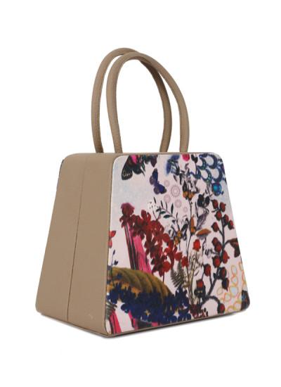 Indian Fashion Designers - Syuuta - Contemporary Indian Designer - Astistic Printed Mama Mia Hangbag - SYK-AW16-SY026