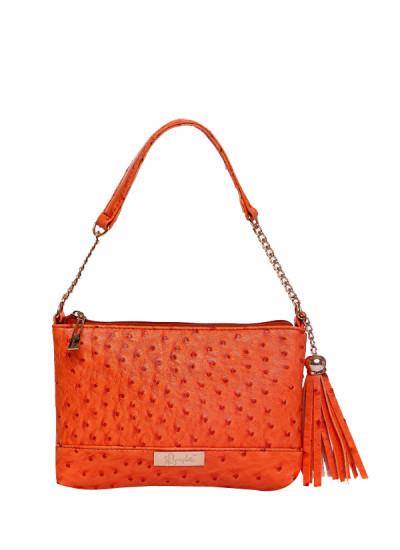 Indian Fashion Designers - Syuuta - Contemporary Indian Designer - Orange Elegante De Ostrich - SYK-AW16-SY027