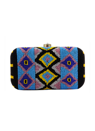 Indian Fashion Designers - The Purple Sack - Contemporary Indian Designer - Bead Bonanza Clutch - TPS-AW16-TPSS01