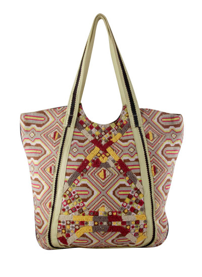 Indian Fashion Designers - The Purple Sack - Contemporary Indian Designer - Bead Fanatic Bag - TPS-AW16-TPSS32