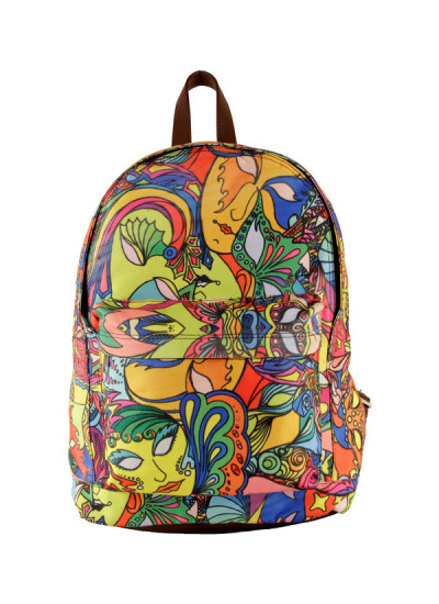 Indian Fashion Designers - The Purple Sack - Contemporary Indian Designer - Mardi GrasS Backpack - TPS-AW16-TPSS59