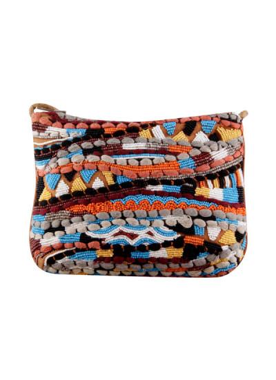 Indian Fashion Designers - The Purple Sack - Contemporary Indian Designer - Orange Multi Sling - TPS-AW16-TPSS66