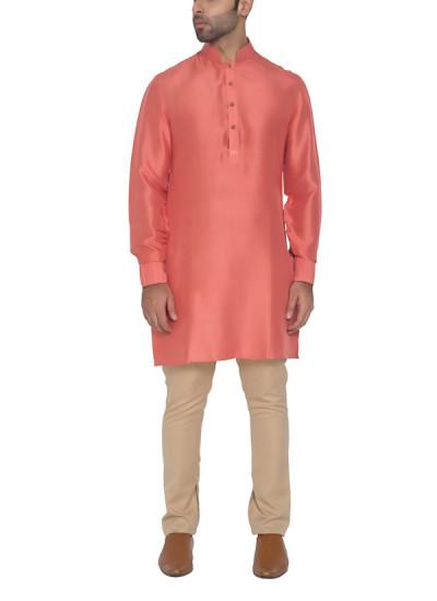 Indian Fashion Designers - WYCI - Contemporary Indian Designer - Lovely Peach Kurta - WYCI-SS16-W6KDs14