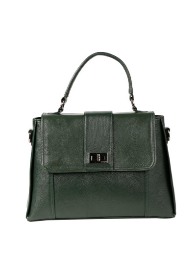 Indian Accessories Designers - Images Bags - Indian Designer Bags - IMG-SS15-L1426 - Deep Green Shoulder Tote