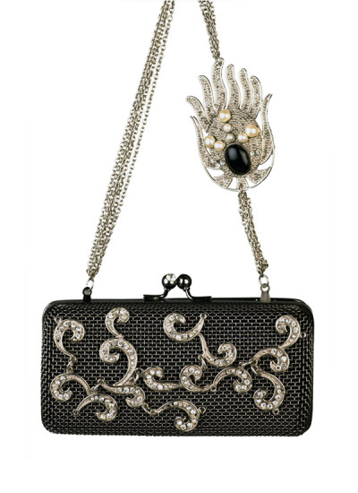 Indian Accessories Designers - Meera Mahadevia - Indian Designer Bags - MM-AW15-MM-BB-CL-005 - Metal Filigree Work Clutch
