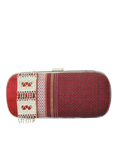 Indian Accessories Designers - Meera Mahadevia - Indian Designer Bags - MM-AW15-MM-BB-CL-039 - Lovely Khand Fabric Clutch