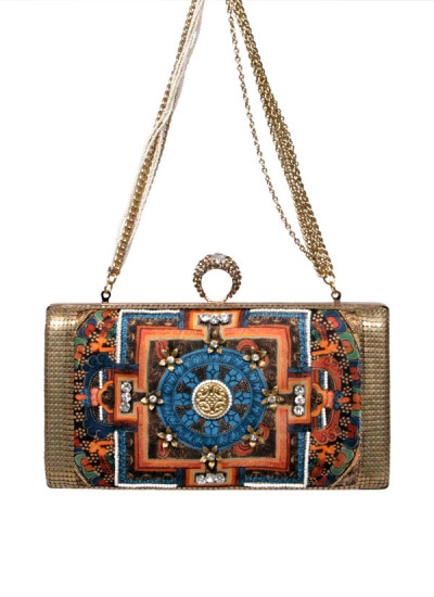 Indian Accessories Designers - Meera Mahadevia - Indian Designer Bags - MM-SS15-MM-QE-CL-010 - Vivacious Embroidered Clutch