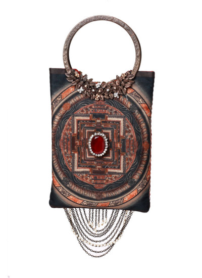 Indian Accessories Designers - Meera Mahadevia - Indian Designer Bags - MM-SS15-MM-QE-CL-032 - Lovely Alluring Clutch