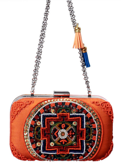 Indian Accessories Designers - Meera Mahadevia - Indian Designer Bags - MM-SS15-MM-QE-CL-037 - Pretty Beaded Clutch