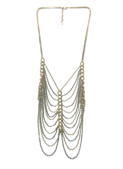 Indian Accessories Designers - Sannam Chopra - Indian Designer Jewellery - Designer Necklaces - SC-SS15-AN-3146 - Cascading Shackle Necklace
