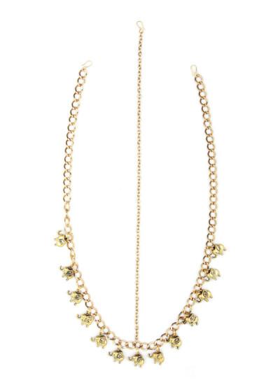 Indian Accessories Designers - Sannam Chopra - Indian Designer Jewellery - Head-Pieces - SC-SS15-H-210 - Goddess Head Hair Chain