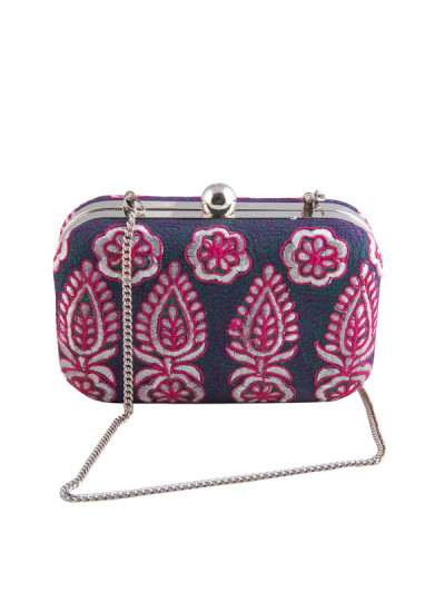 Indian Accessories Designers - The Purple Sack - Indian Designer Bags - TPS-SS15-TPS10 - Silver Retreat Clutch