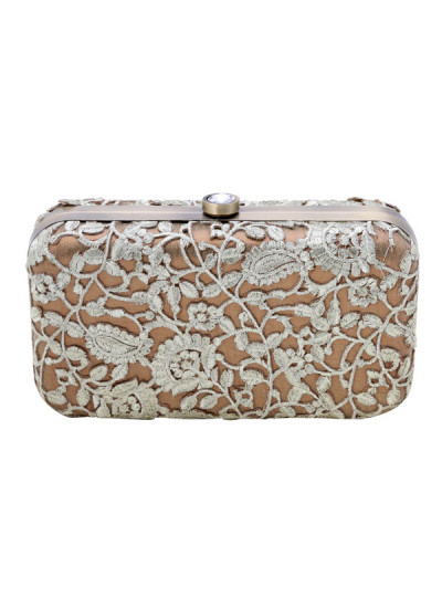 Indian Accessories Designers - The Purple Sack - Indian Designer Bags - TPS-SS15-TPS53 - The Gold Fiesta Clutch