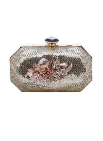 Indian Accessories Designers - The Purple Sack - Indian Designer Bags - TPS-SS15-TPS58 - Sparkling Sequined Clutch