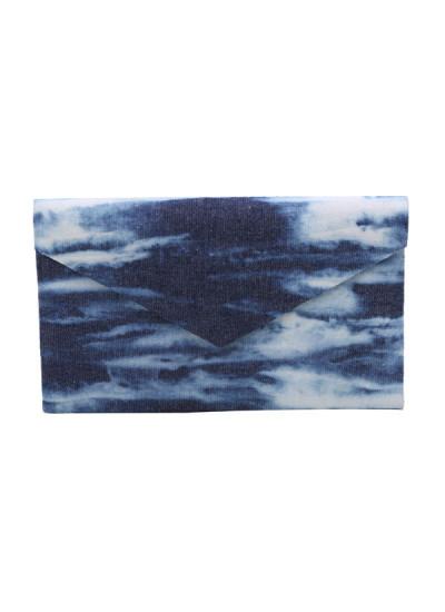 Indian Accessories Designers - The Purple Sack - Indian Designer Bags - TPS-SS15-TPS63 - Denim Wash Clutch