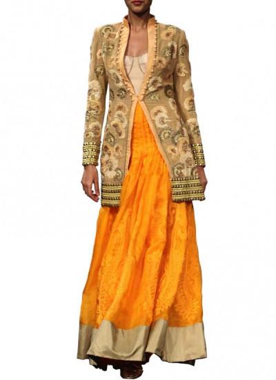 Delonix Regalia Embroidered Jacket by Indian Designer Narendar Kumar