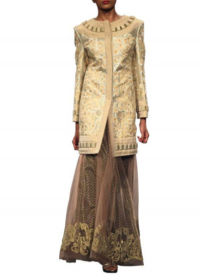 Embroidered JAcquard Jacket by Indian Fashion Designer