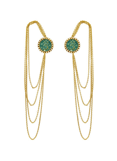 Indian Fashion Designers - Rejuvenate Jewels - Contemporary Indian Designer - Travel To Ear Earcuff - RJJ-SS16-RJEC330