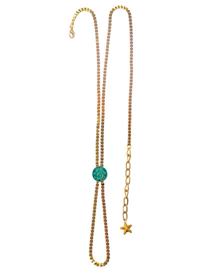 Indian Fashion Designers - Rejuvenate Jewels - Contemporary Indian Designer - Turquoise Coin Anklet - RJJ-SS16-RJMAL17