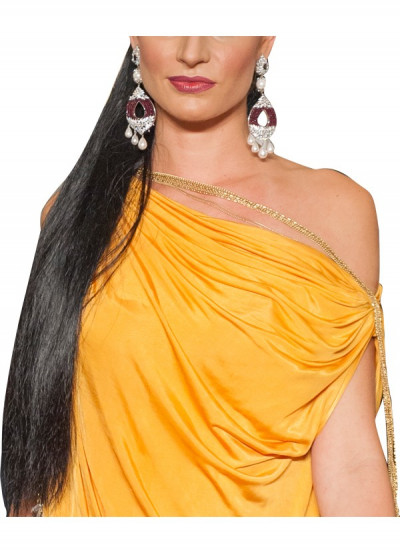 Indian Fashion Designers - Diagold - Contemporary Designer Fine Jewellery - Necklaces - AW13 - E7 - Diamond and Rohdolite Chandelier Earrings