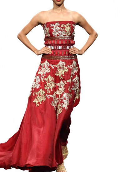 Baroque Embroidered Dress by Indian Fashion Designer Narendra Kumar