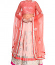 Indian Fashion Designers - Devnaagri - Contemporary Indian Designer - Blush Pink Georgette lehenga Set - DEV-SS16-LN-24