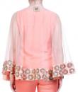 Indian Fashion Designers - Hirika Jagani - Contemporary Indian Designer - Peach Hemline Cape Set - HJ-SS16-HJCP486-F-PE