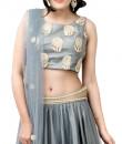 Indian Fashion Designers - Kriti J - Contemporary Indian Designer - Silver Tutu Style Lehenga Set - KJ-SS16-LA02