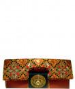 Indian Fashion Designers - Meera Mahadevia - Contemporary Indian Designer - Traditional Orange Clutch - MM-SS16-MM-6636