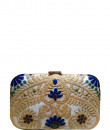 Indian Fashion Designers - Meera Mahadevia - Contemporary Indian Designer - Intricate Embroidered Clutch - MM-SS16-MM-6906
