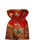 Indian Fashion Designers - Meera Mahadevia - Contemporary Indian Designer - Red Embroidered Potli Bag - MM-SS16-MM-6918