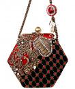 Indian Fashion Designers - Meera Mahadevia - Contemporary Indian Designer - Trendy Haxagon Clutch - MM-SS16-MM-BB-COU-024