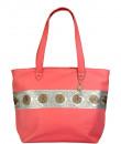 Indian Fashion Designers - Meera Mahadevia - Contemporary Indian Designer - Pink Handbag with Gold Stripe - MM-SS16-MM-MA-016