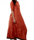 Indian Fashion Designers - Myoho - Contemporary Indian Designer - Warli Embroidered Drape Dress - MYO-SS16-MYO-244