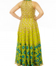 Indian Fashion Designers - Neehara - Contemporary Indian Designer - Peacock Green Halter Anarkali - NH-SS16-NH-34