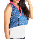 Indian Fashion Designers - Pulpypapaya - Contemporary Indian Designer - Indigo Khadi Bolero Jacket - PP-SS16-KHJKBLF5006DEJ