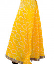 Indian Fashion Designers - Pulpypapaya - Contemporary Indian Designer - Paisley Batik Print skirt - PP-SS16-BKSKYW6004HJJ