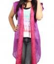 Indian Fashion Designers - Pulpypapaya - Contemporary Indian Designer - Purple Wrap Jacket - PP-SS16-KHJKPRF5011IJJ
