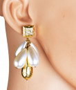 Indian Fashion Designers - Rejuvenate Jewels - Contemporary Indian Designer - Pearly Droplets Earrings - RJJ-SS16-RJE359