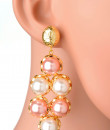 Indian Fashion Designers - Rejuvenate Jewels - Contemporary Indian Designer - Pink Pearl Placements - RJJ-SS16-RJE525