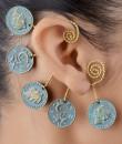Indian Fashion Designers - Rejuvenate Jewels - Contemporary Indian Designer - 5 Coin Back Earcuff - RJJ-SS16-RJEC328