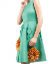 Indian Fashion Designers - Riddhi And Revika - Contemporary Indian Designer - Floral Green Dress - RRI-SS16-DRS-22