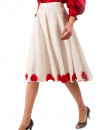 Indian Fashion Designers - Riddhi And Revika - Contemporary Indian Designer - White Flared Skirt - RRI-SS16-SKRT-25